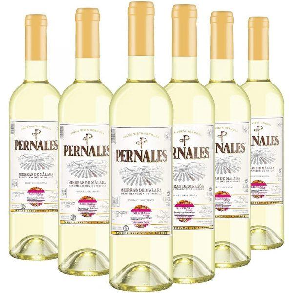 Pack Pernales Chardonnay de 6 botellas de vino blanco de Málaga