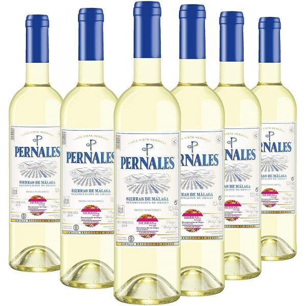 Pack Pernales Seco Moscatel - Pack 6 botellas - Vino blanco Sierras de Málaga