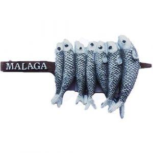 Imán de nevera 3D Espetos de Sardinas de Málaga España