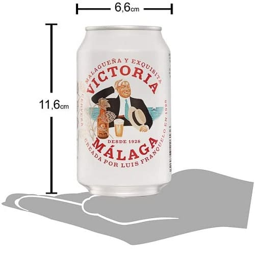 Victoria Cerveza Lager Malagueña Latas